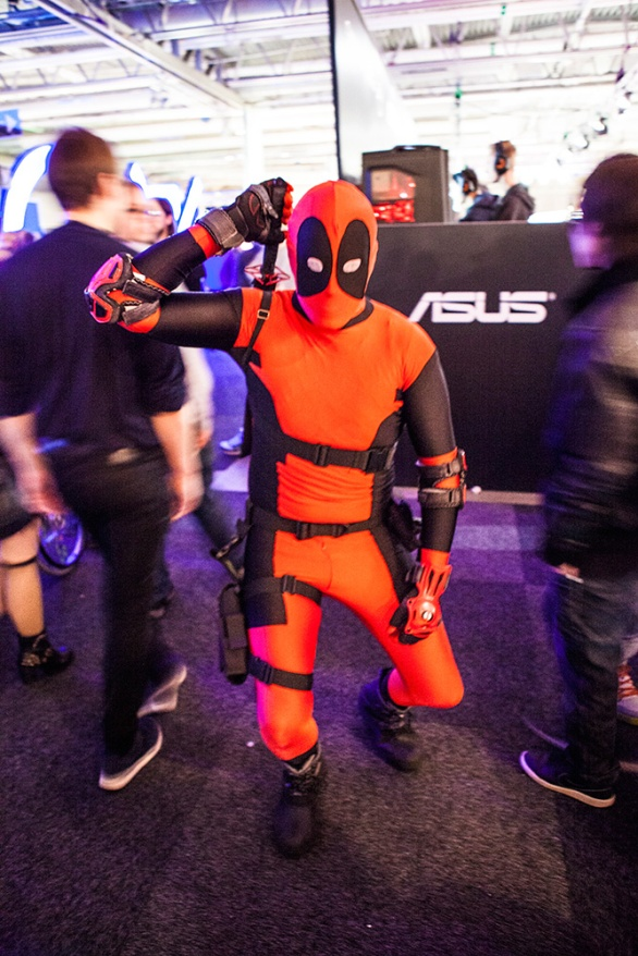 Deadpool cosplay at GAMEX / Comic Con 2014
