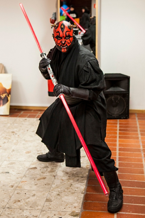 Darth Maul cosplay at Sci-Fi World Malmö 2015