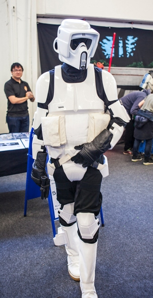 Scout trooper cosplay at Sci-Fi World Malmö 2015