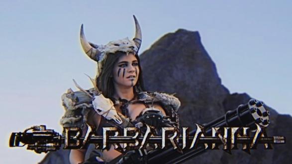 Viking Barbarianna meets Kung Fury