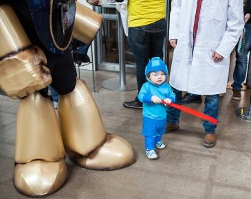 Megaman baby cosplay