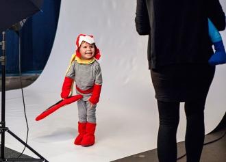 Protoman kid cosplay
