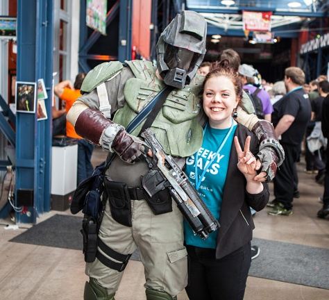 Geeky Gals with Master Chief
