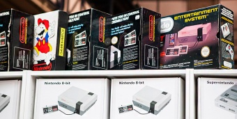 Boxed NES consoles for sale at RSM