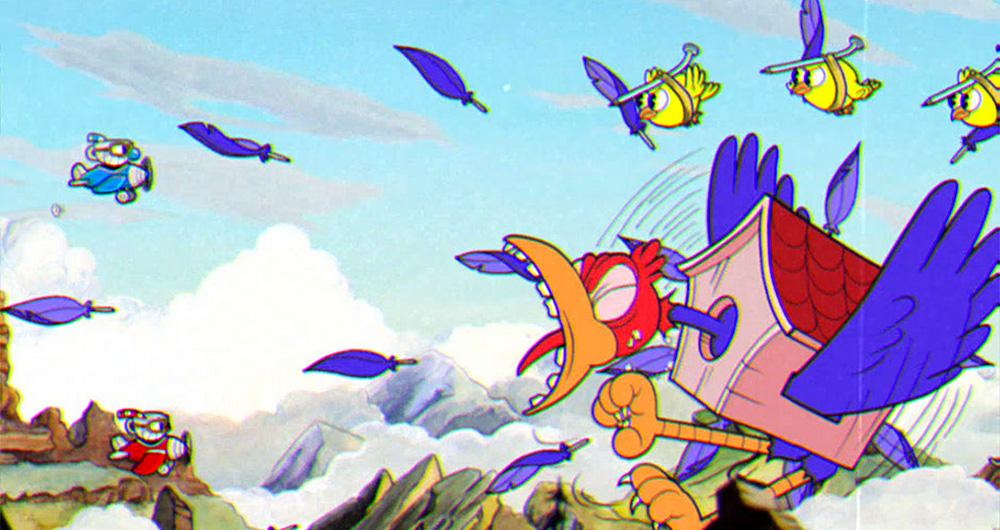 Cuphead screenshot Bird Boss