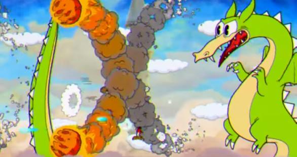 Cuphead screenshot Dragon boss