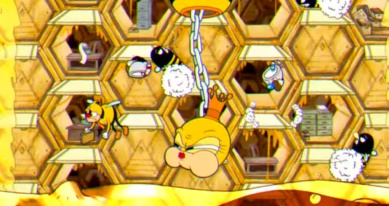 Cuphead screenshot Queen Bee Boss