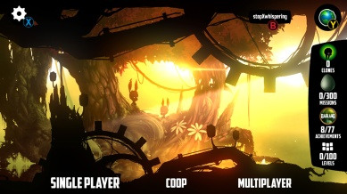 Badland screenshot menu screen