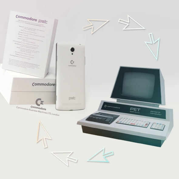 Commodore PET new smartphone - old computer