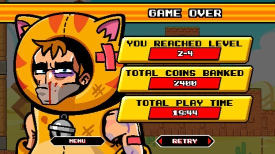 Game Over - Mega Coin Squad Screenshot