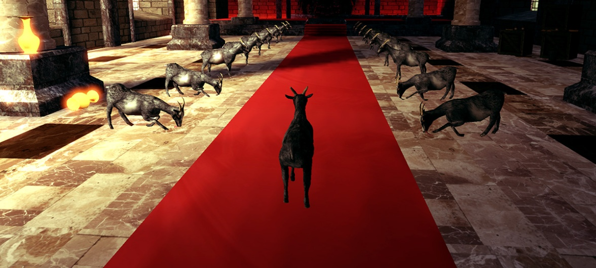 Goat Simulator screenshot Goat worshipping