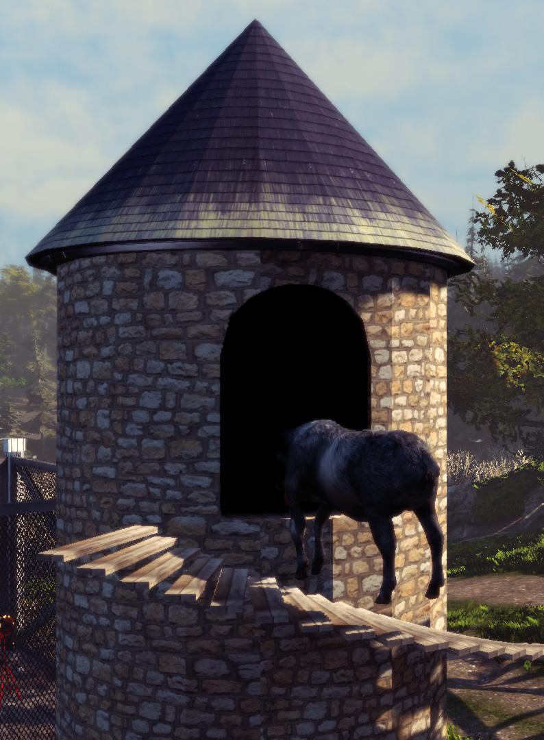 Goat Simulator screenshot Hello?