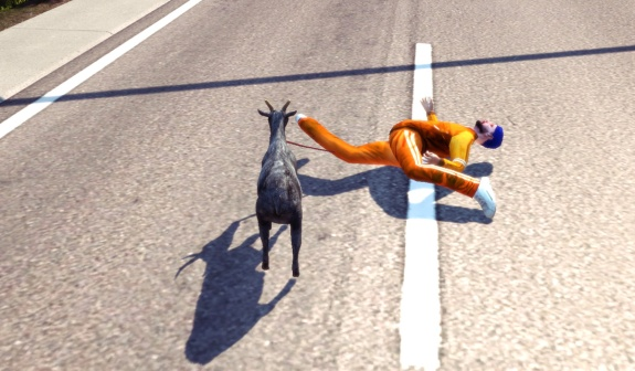 Goat Simulator screenshot Let's go for a ride