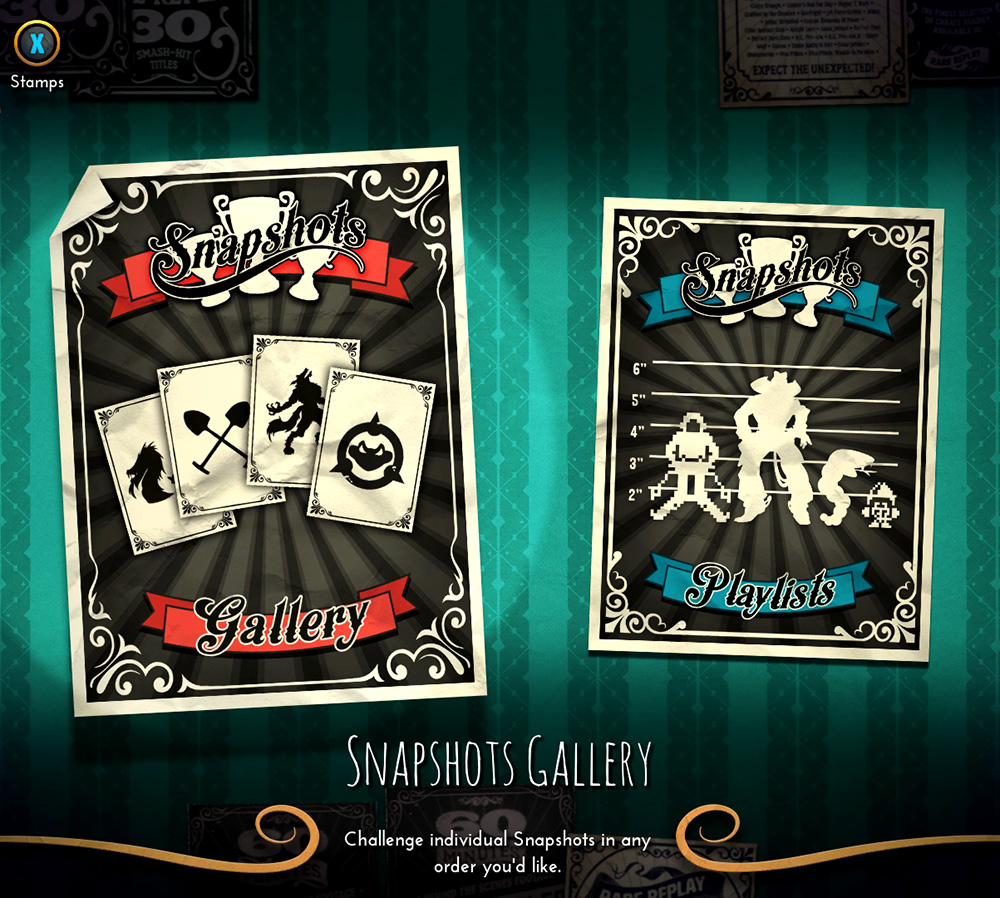 Rare Replay Snapshots menu