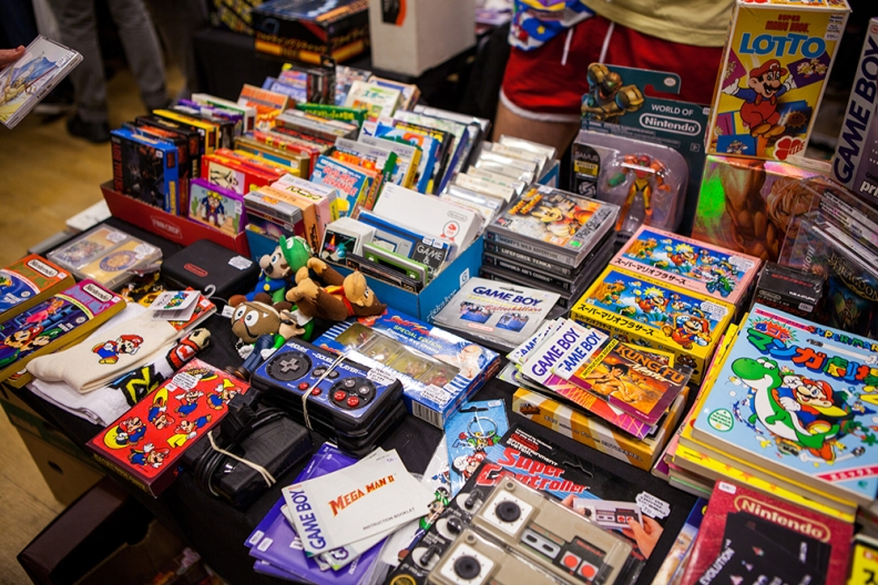 Famicom games at Retro Gathering