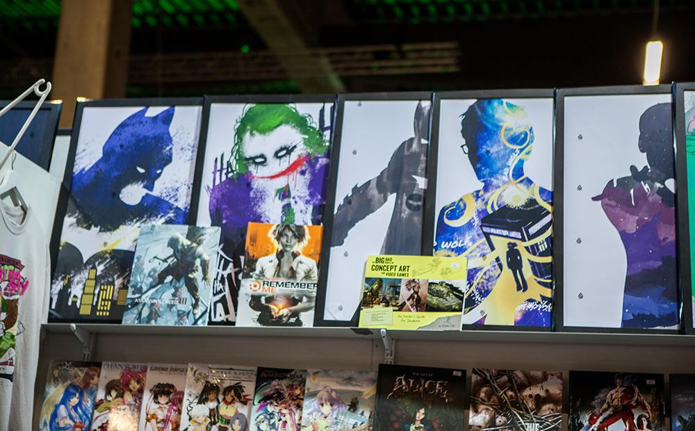 Batman paintings at Comic Con Malmö 2015