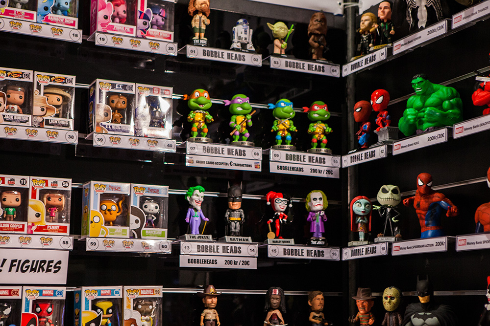 Pop! Vinyls and Bobble Heads at Comic Con Malmö 2015