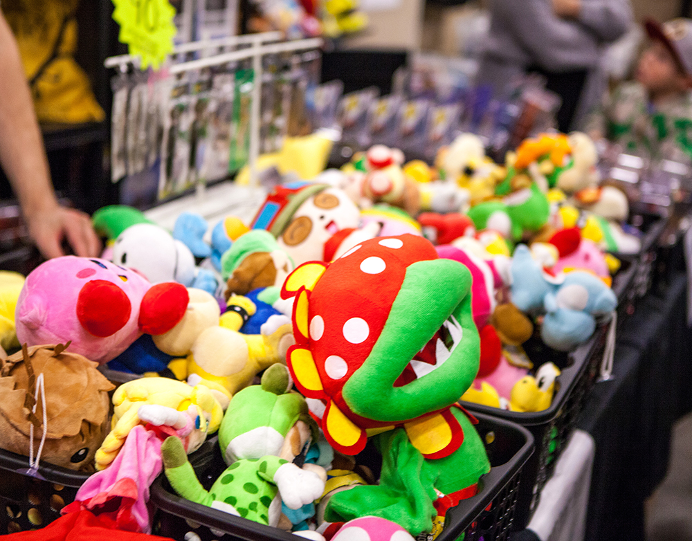 Plushies at Retro Gathering