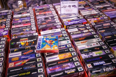 N64 games at Comic Con Malmö 2015