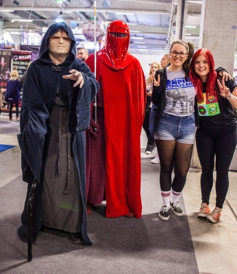 Star Wars cosplay, the emperor and imperial guard