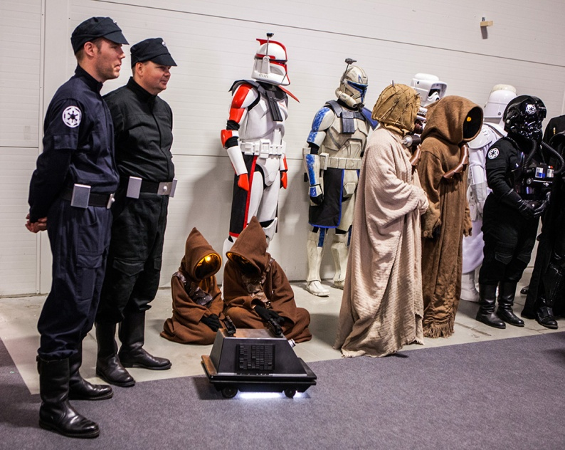 Star Wars cosplayers on parade