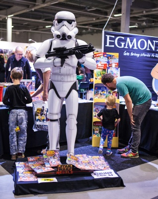 Storm trooper statue at Comic Con Malmö 2015