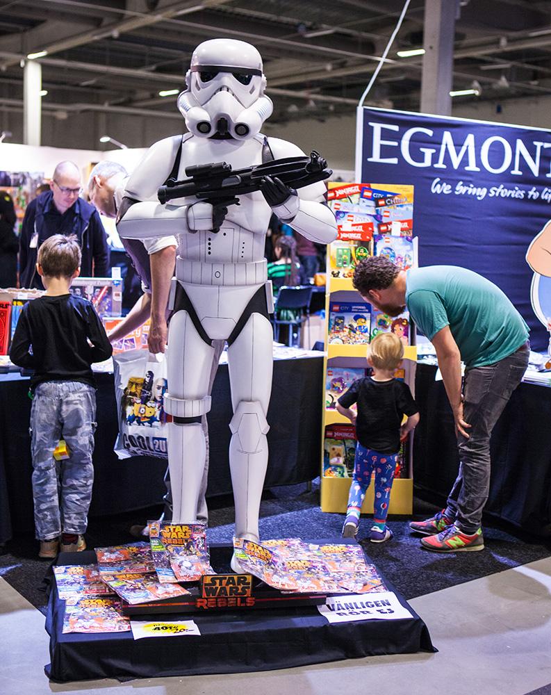 Storm trooper statue at Comic Con Malmö 2015