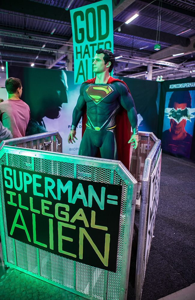 Superman VS Batman promotion at Comic Con Malmö 2015