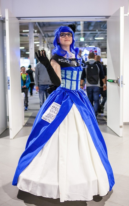 Tardis cosplay at Comic Con Malmö 2015