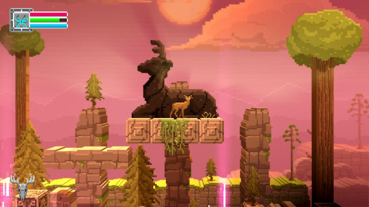 The Deer God Screenshot - Deer Statue Puzzle