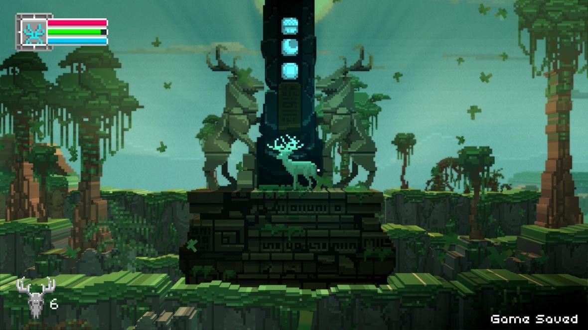 The Deer God Screenshot - Progress Statue