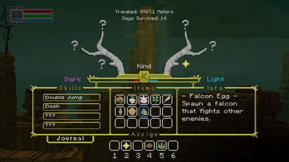 The Deer God Screenshot - Inventory & Skill tree