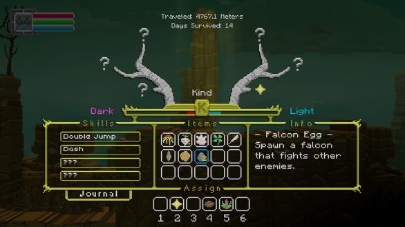 The Deer God Screenshot - Inventory & Skill tree