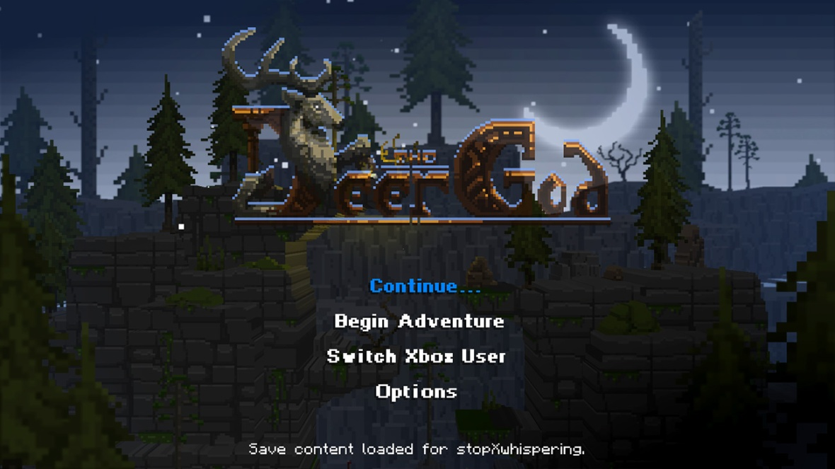 The Deer God Screenshot - Start screen