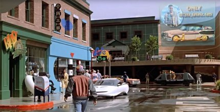 Back to the Future Day - screenshot from movie