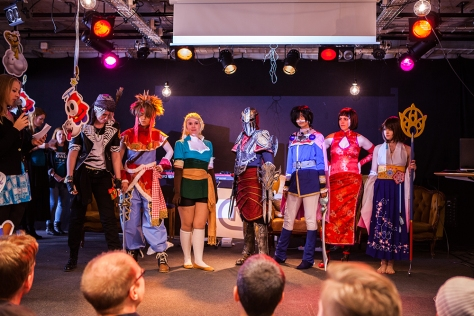 Cosplayers at Retrospelsfestivalen 2015