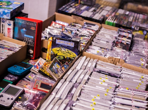 Games for sale at Retrospelsfestivalen 2015