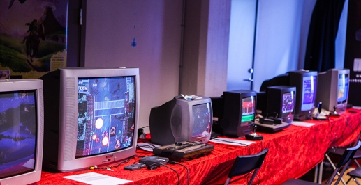 Gaming setup at Retrospelsfestivalen 2015