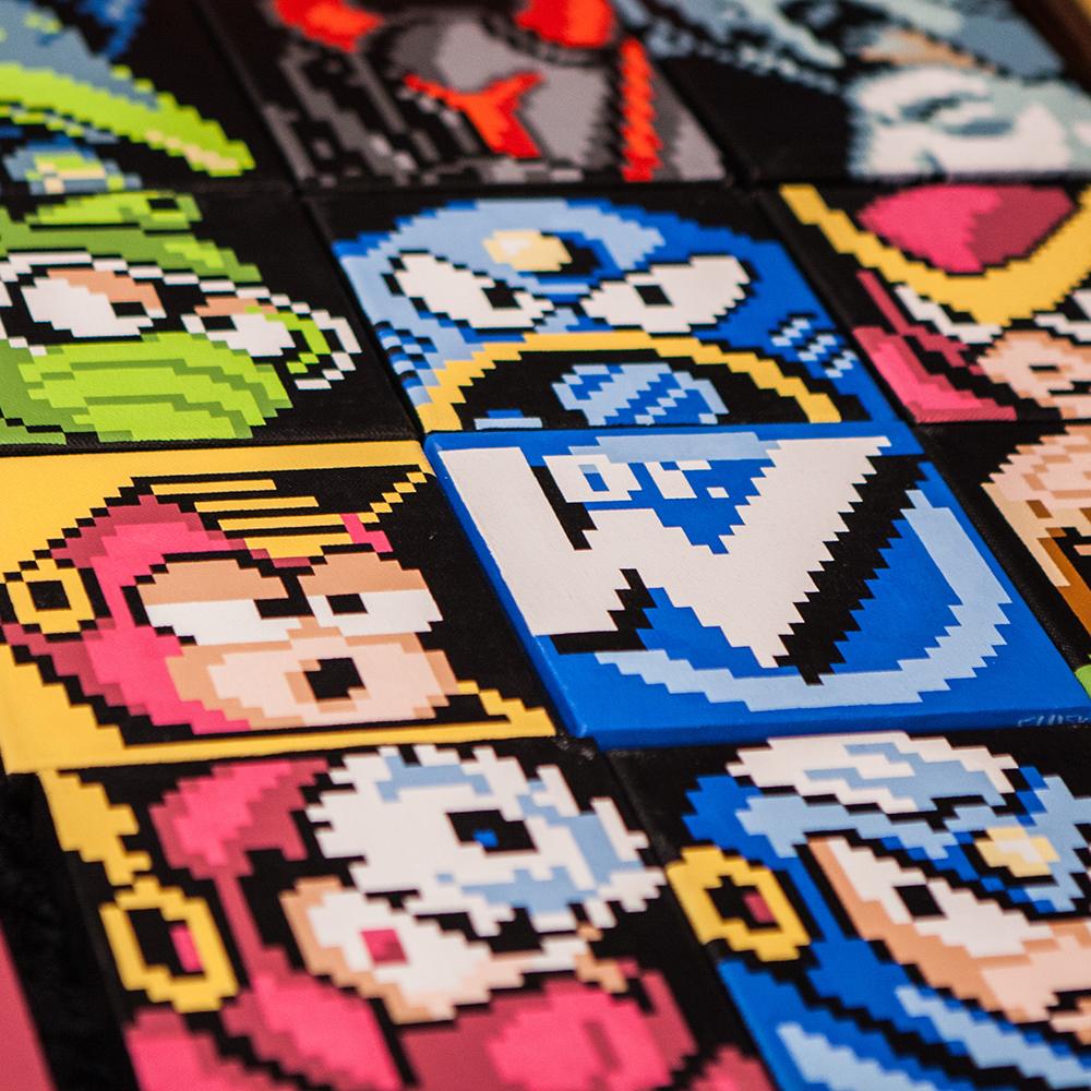 Megaman paintings