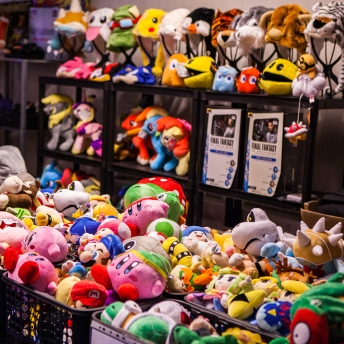 Plushies at Retrospelsfestivalen 2015