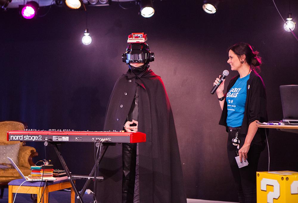 Professor Sakamoto at Retrospelsfestivalen 2015
