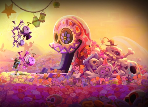 Rayman Legends PS4 Screenshot - Skulls