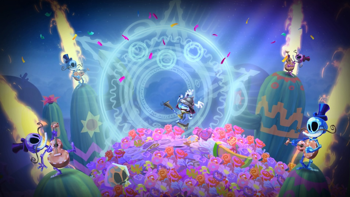 Rayman Legends PS4 Screenshot - Stage win