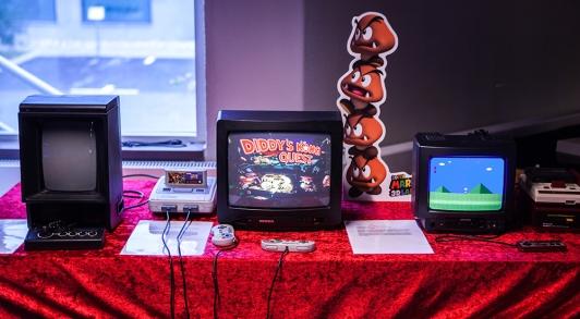 Retrospelsfestivalen 2015 gaming setup