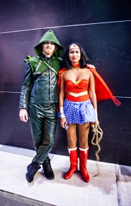 Arrow and Wonderwoman cosplay - ComicCon Gamex 2015