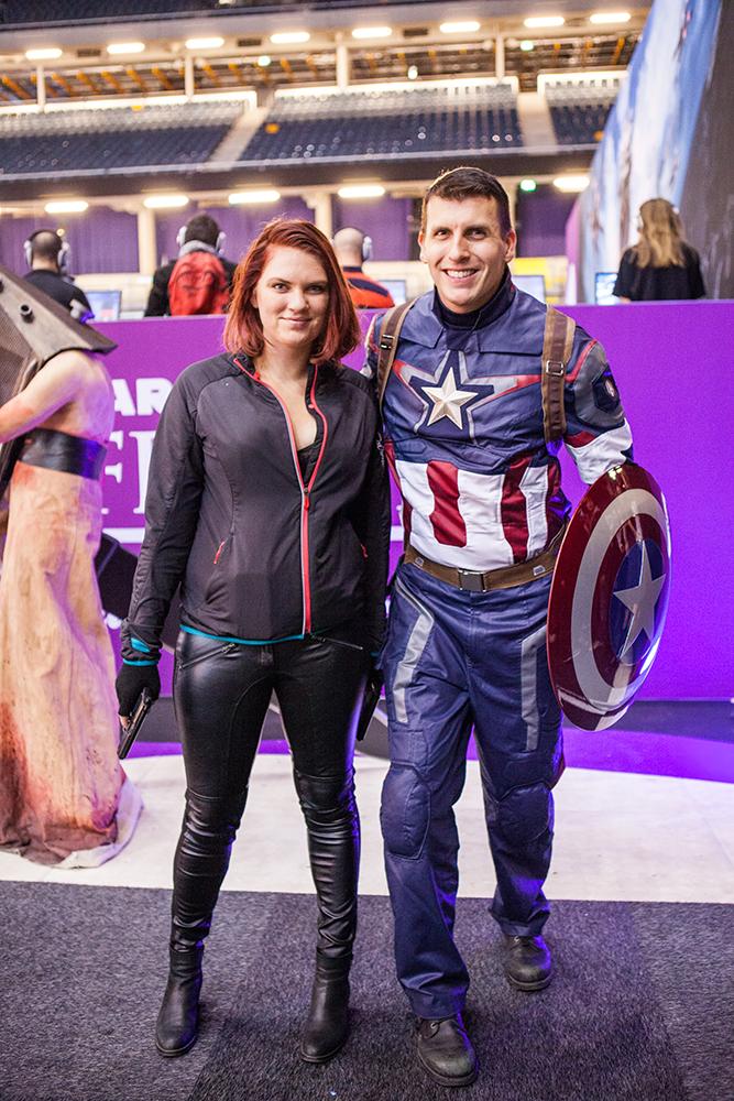Black widow & Captain America cosplay - ComicCon Gamex 2015