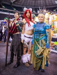 Cosplayers at ComicCon Gamex 2015