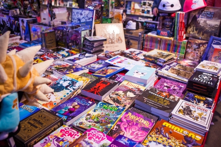 Books and comics at Comic Con Gamex