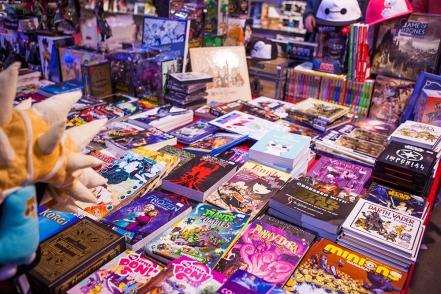 Books and comics at Comic Con Gamex