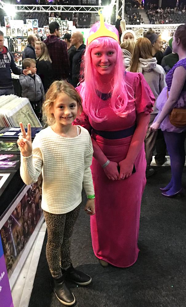 Maya and Princess Bubblegum cosplayer